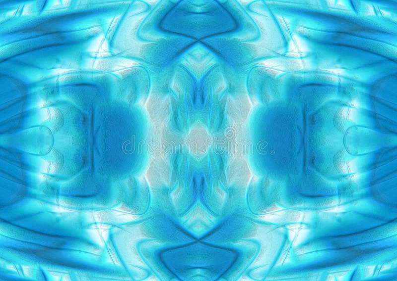 冷的蓝色和绿色背景 库存例证