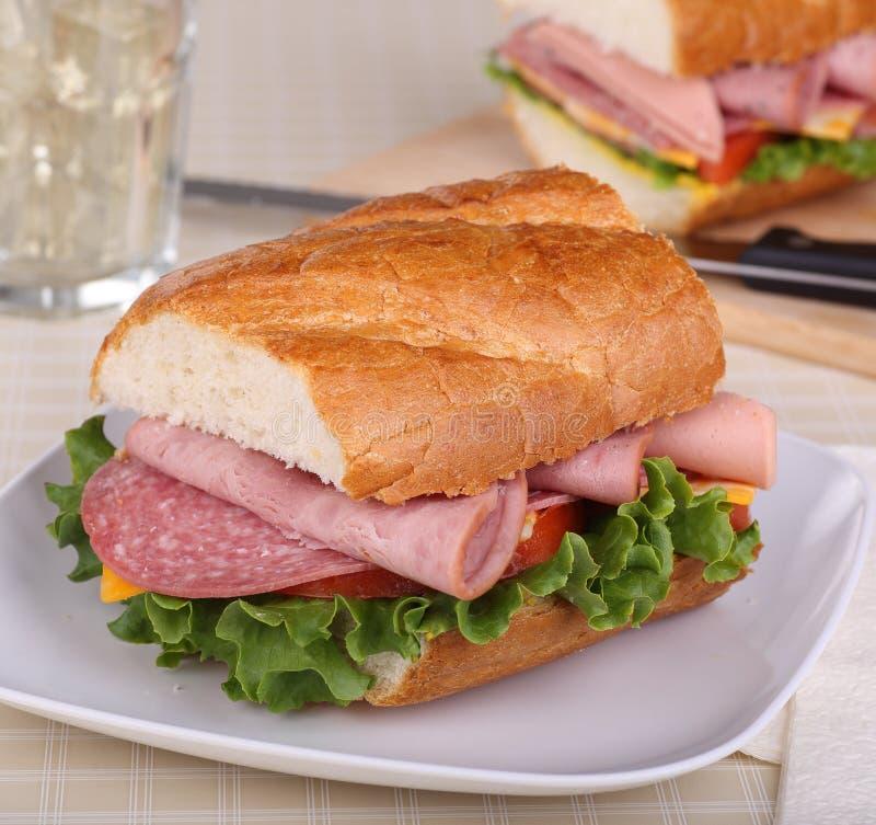冷盘三明治 库存图片