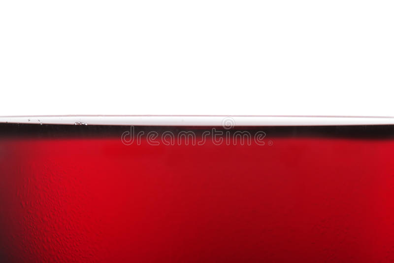 冷红色表面酒 免版税库存照片