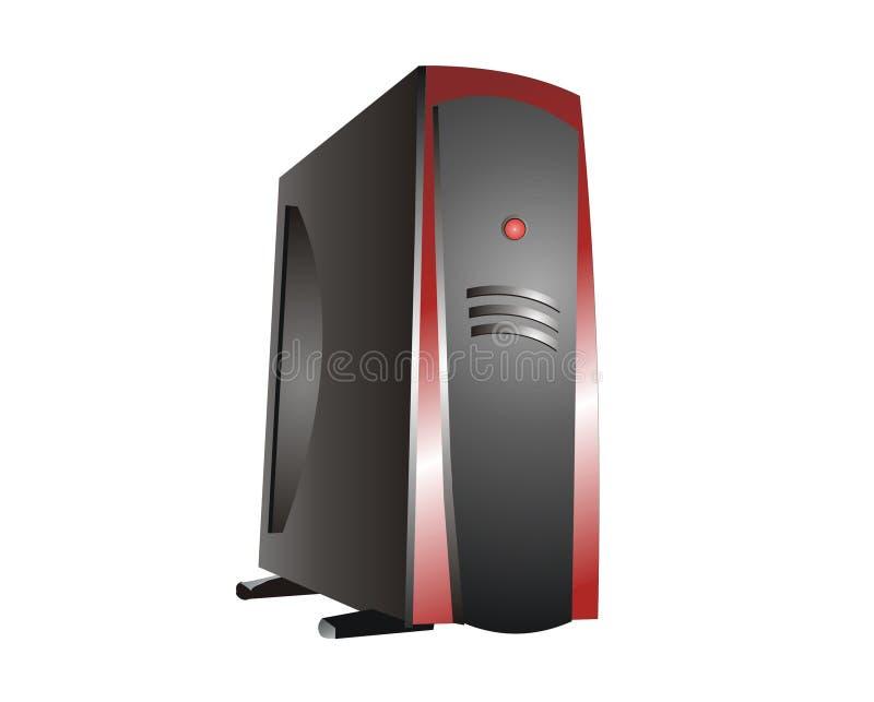 冷静主持的红色服务器 库存例证