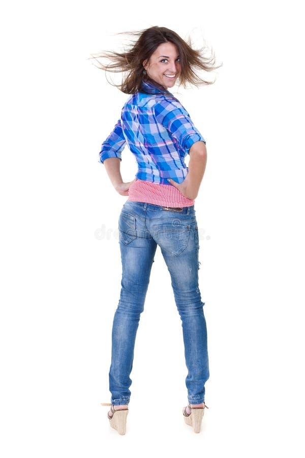 冷静女孩增长纵向 免版税库存照片