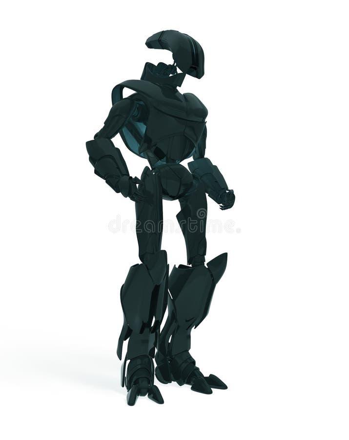 冷静未来派机器人 向量例证