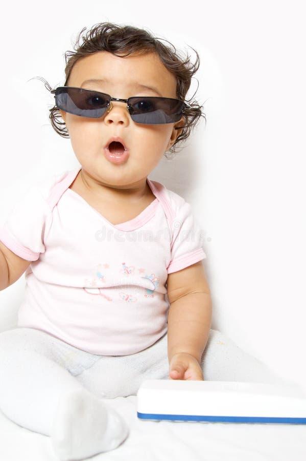冷静的婴孩 库存照片