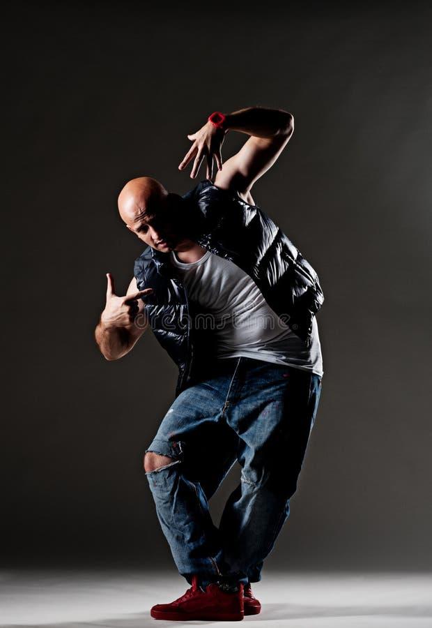 冷静节律唱诵的音乐舞蹈演员 免版税库存图片