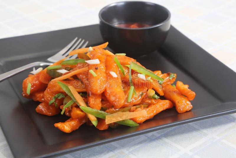 冷颤的土豆汉语 库存图片