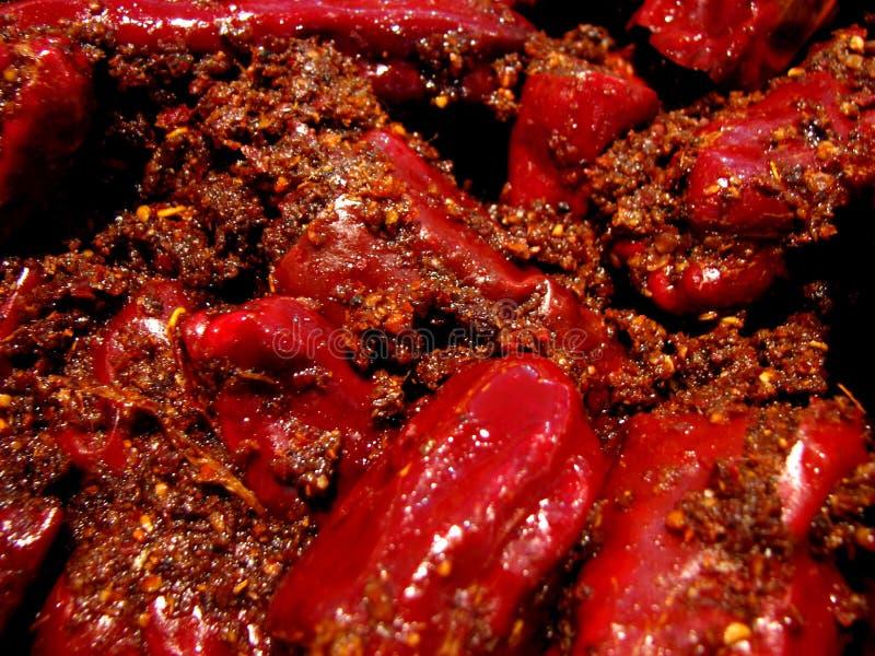 冷颤的腌汁红色 图库摄影