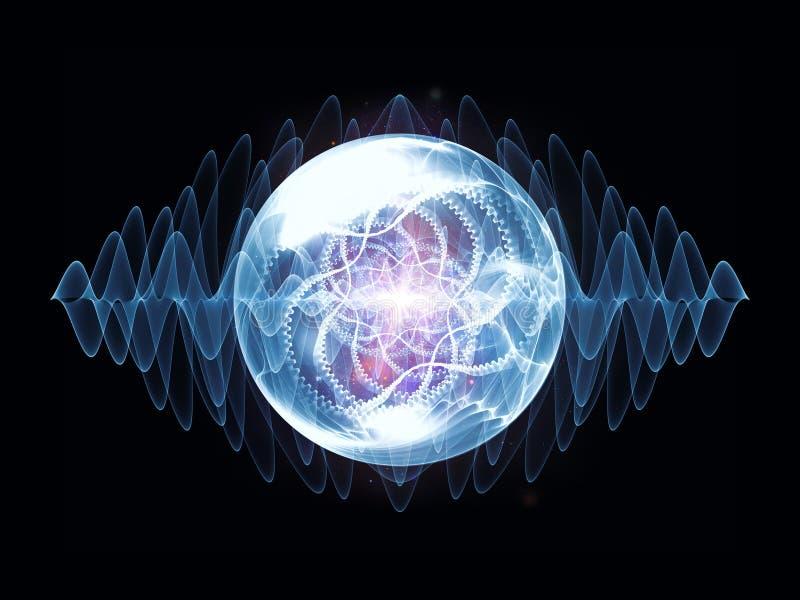 冷却波浪微粒 向量例证