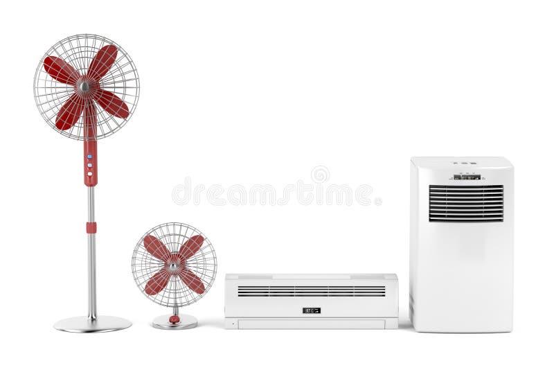 冷却的电设备 库存例证