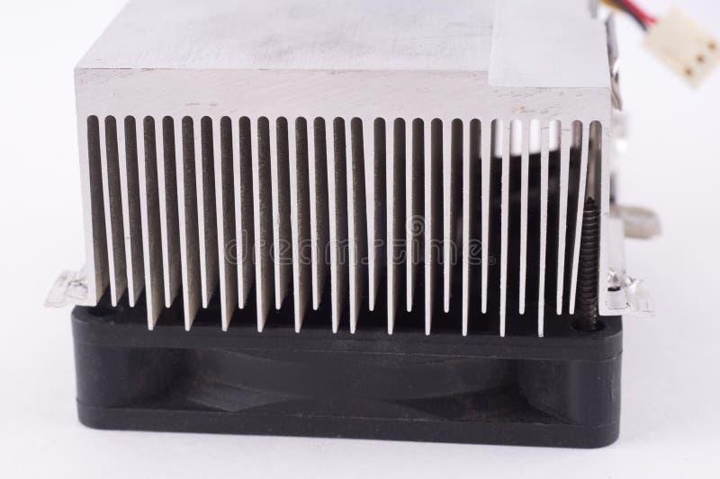 冷却的co的微处理器使用的铝吸热器 免版税库存照片
