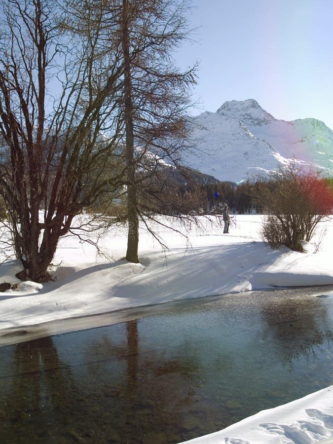 冻结河 库存照片