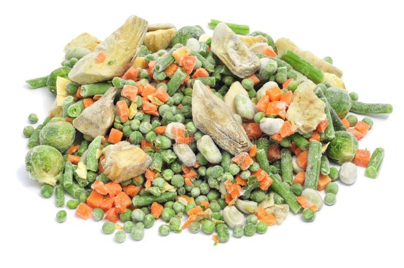 冻结混合蔬菜 免版税图库摄影