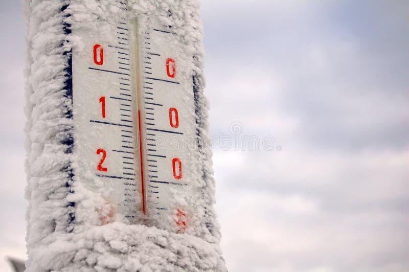 冻结温度计 免版税库存图片