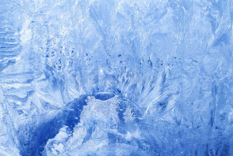 冻结玻璃冰雪花 库存图片