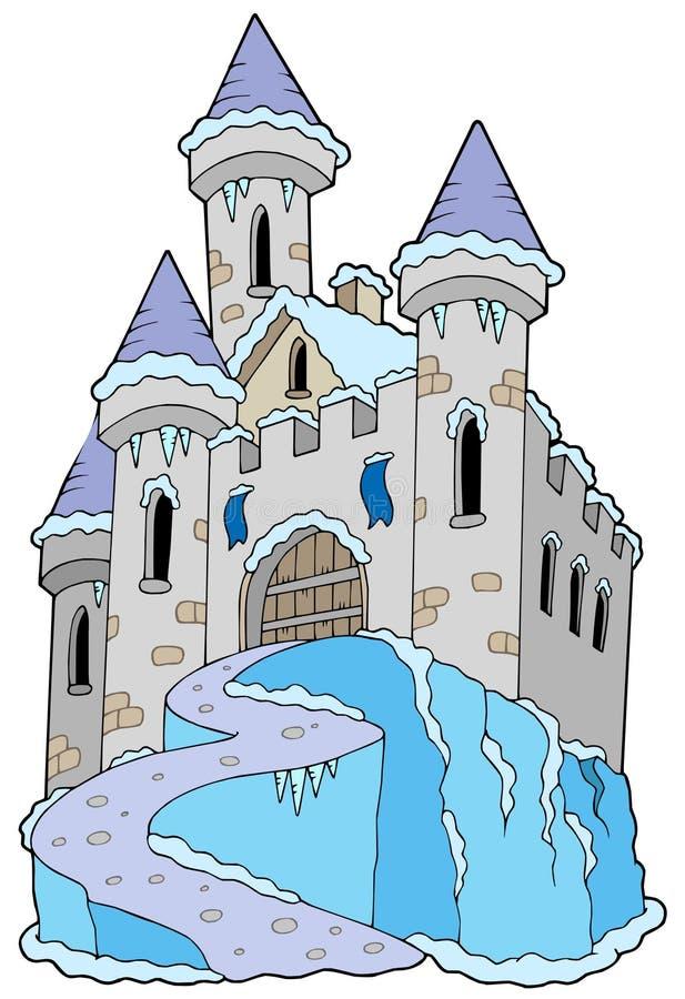 冻结的城堡 库存例证