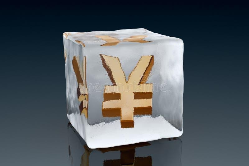 冻结的日元 向量例证