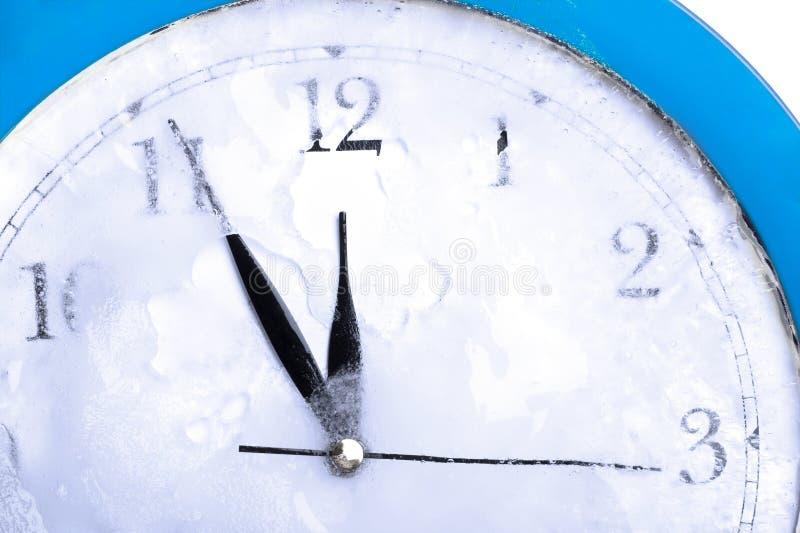 冻结的时钟 免版税库存图片