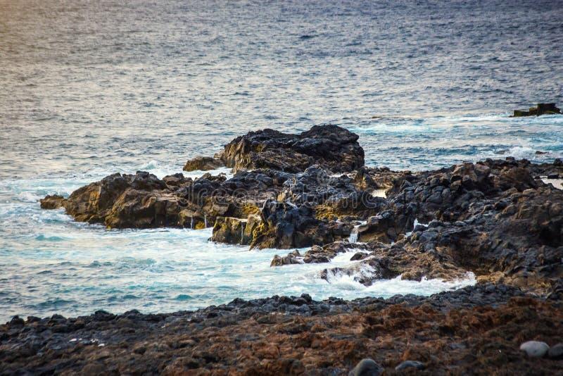 冻结的火山的熔岩特写镜头数千在erupti以后的几年 免版税库存照片