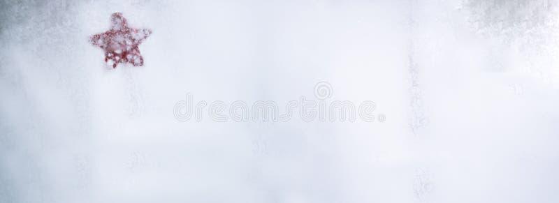 冻结的玻璃纹理 抽象背景冬天 库存照片