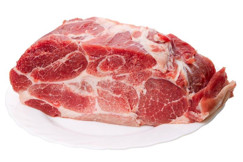 冻结的肉片 免版税库存图片