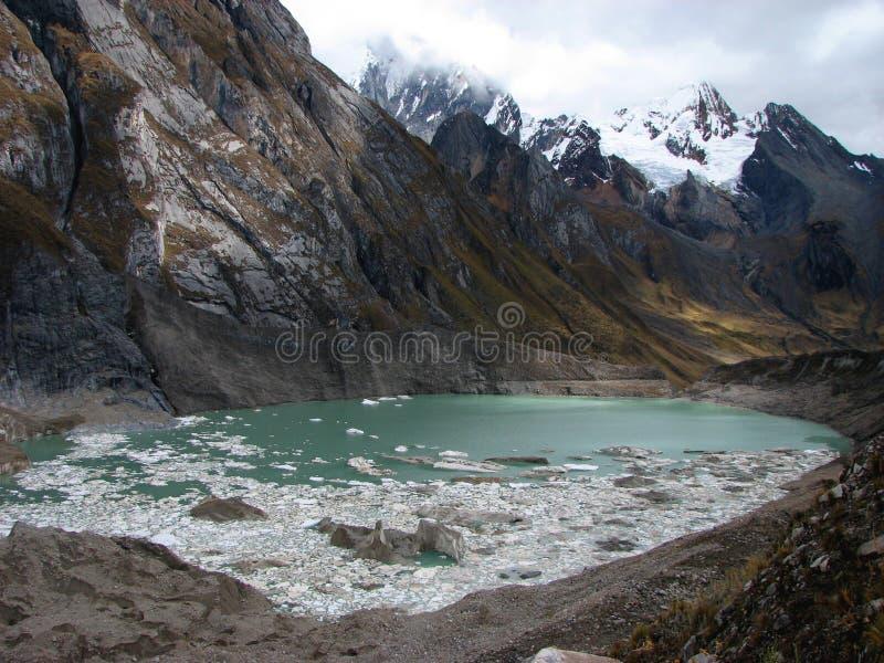 冻结盐水湖 库存图片