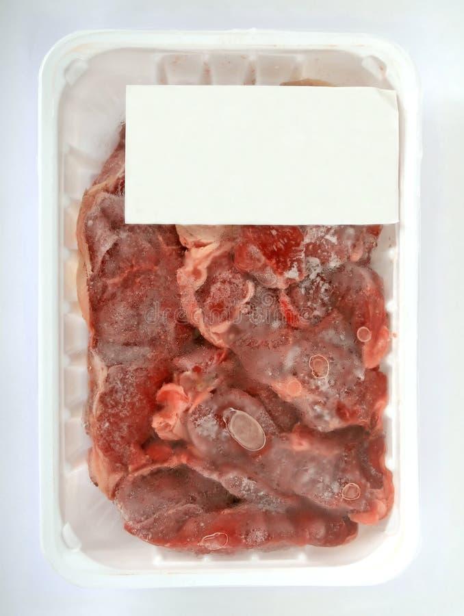 冻结肉超级市场 库存照片