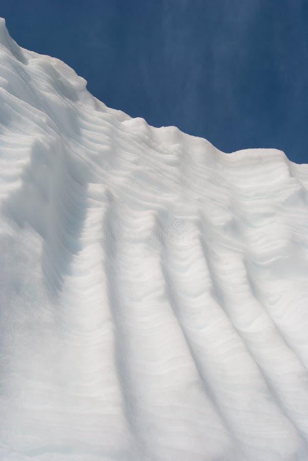 冻雪深堑侧壁  免版税图库摄影
