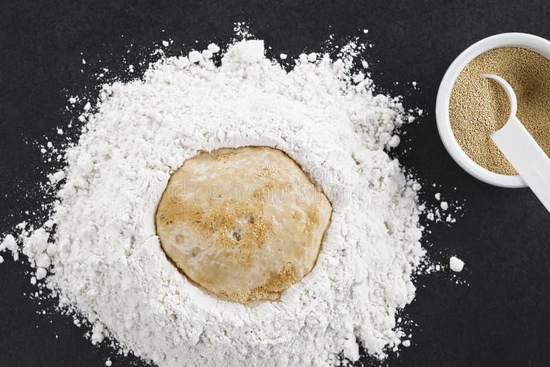 准备发酵面团 图库摄影