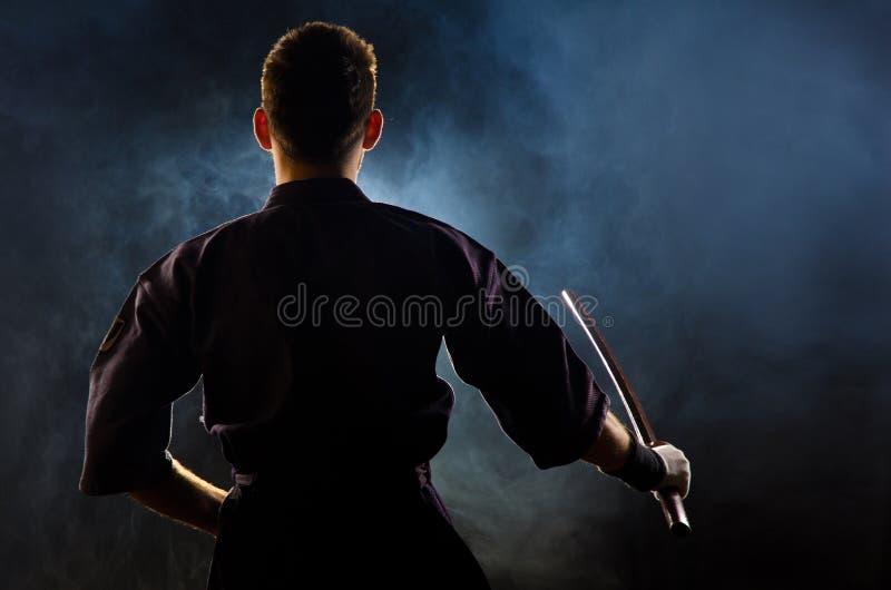 准备好专家级的战斗的kendo 图库摄影