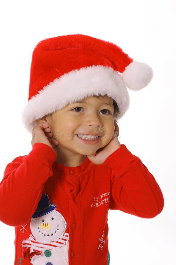准备好可爱的儿童的圣诞节 免版税库存照片
