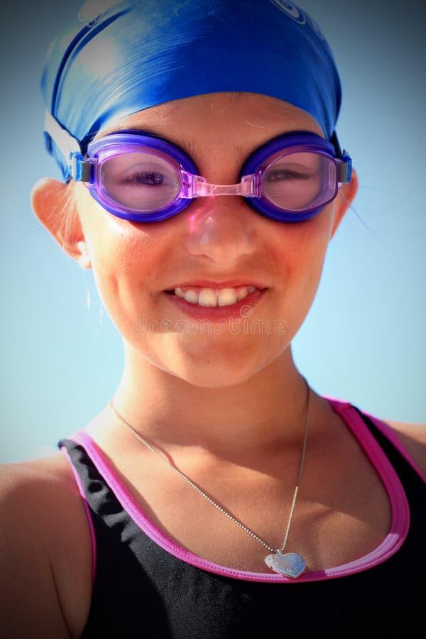 准备好游泳者 免版税库存照片
