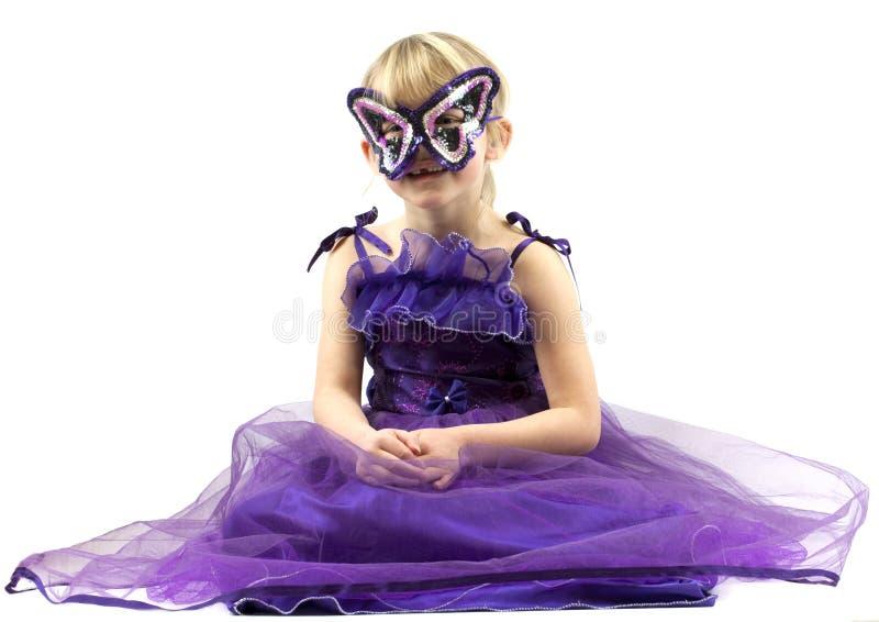 准备好狂欢节的女孩 免版税库存照片
