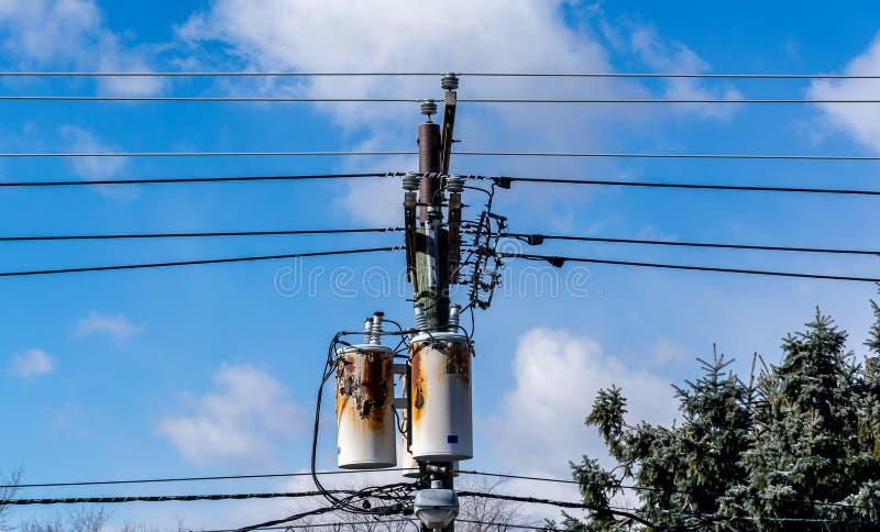准备好生锈的电力的设备退休 免版税库存图片