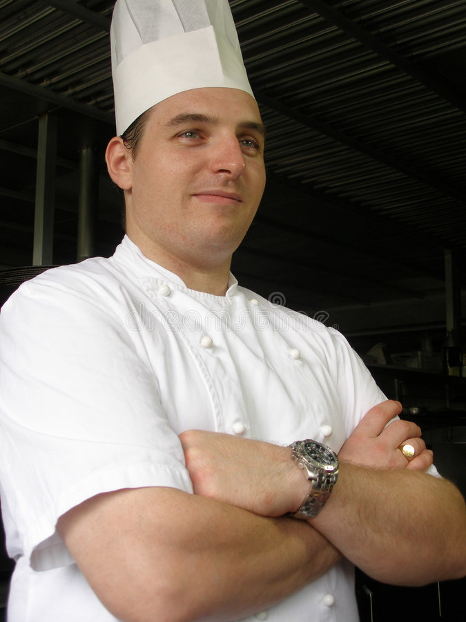准备好的主厨工作 库存图片