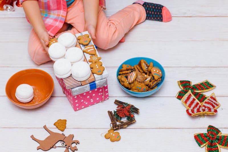 准备好的圣诞节 欢乐食物 库存照片