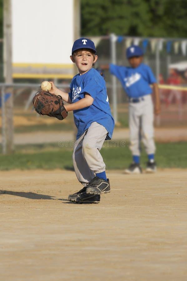准备好的棒球 免版税图库摄影