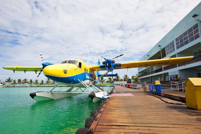准备好的水上飞机服务 免版税库存图片