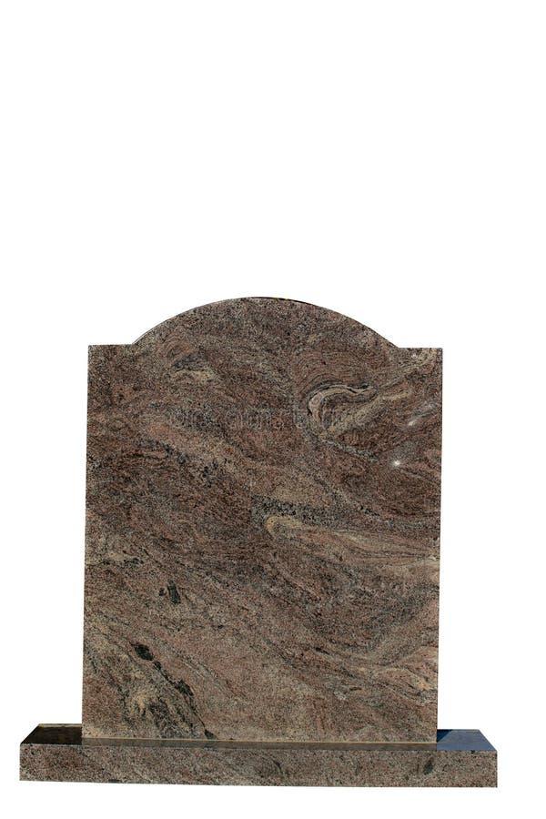 准备好空白墓碑的登记 免版税库存照片