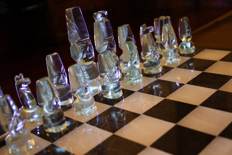 准备好9次争斗的棋 库存图片