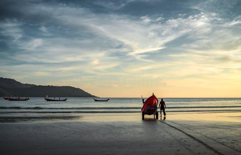 准备对平衡渔 免版税库存图片
