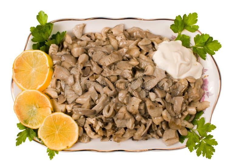 准备的蘑菇 免版税库存图片