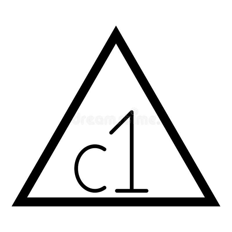 准许漂白罐头漂白与氯衣裳关心洗涤概念洗衣店标志象黑色传染媒介例证的标志 库存例证