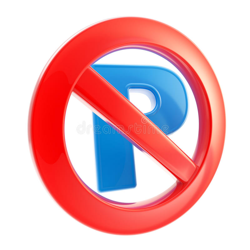 准许禁止不停放符号 向量例证