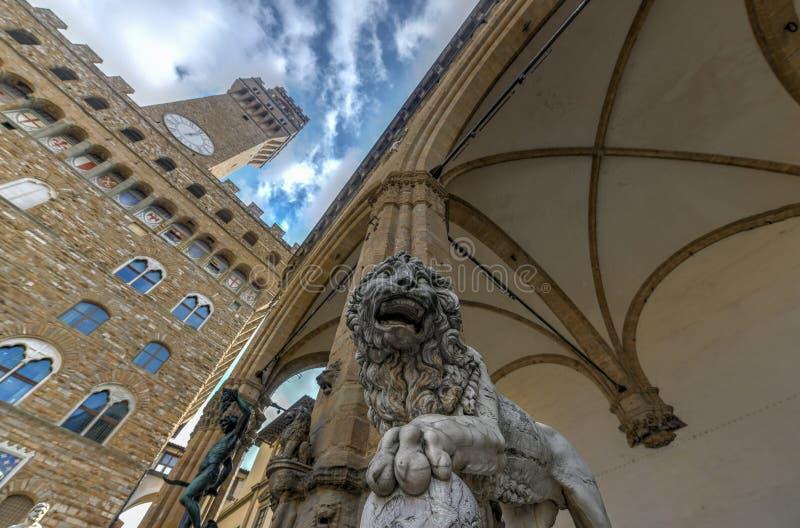 凉廊dei Lanzi -佛罗伦萨,意大利 免版税库存图片