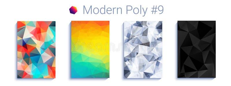 凉快的三角梯度背景 现代抽象几何样式 明亮的colorfull墙纸 向量 向量例证