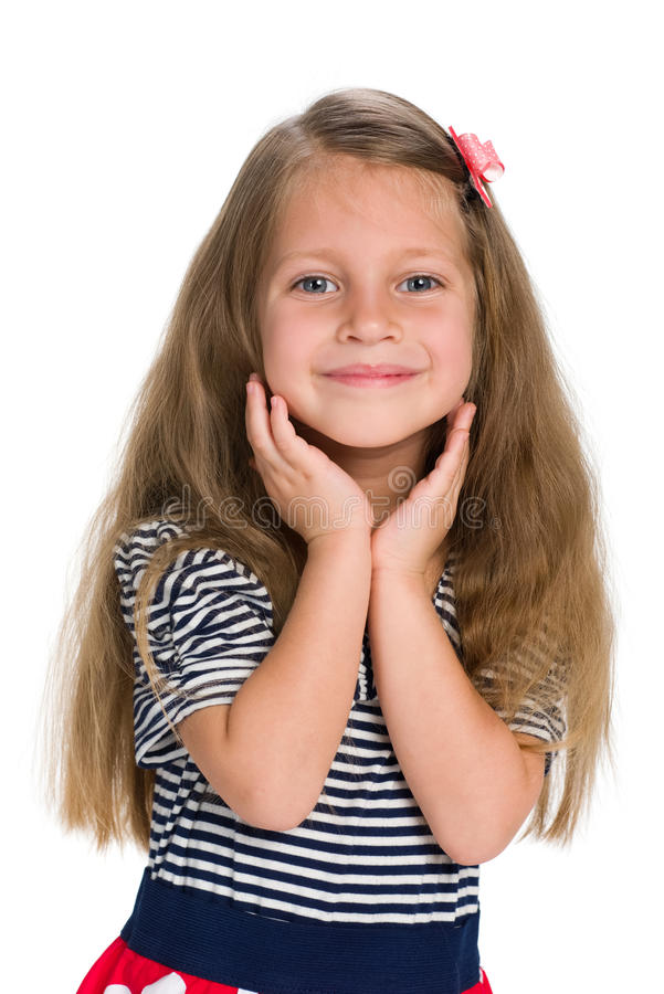 凉快的小女孩 库存图片