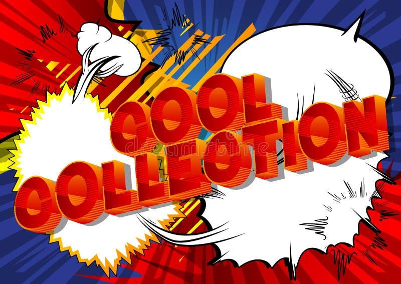 凉快的收藏-漫画在抽象背景的样式词组 皇族释放例证