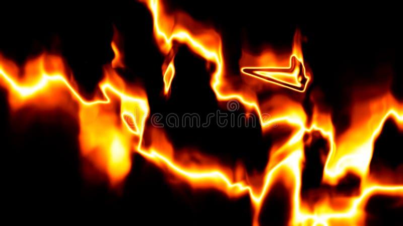凉快的火背景 向量例证