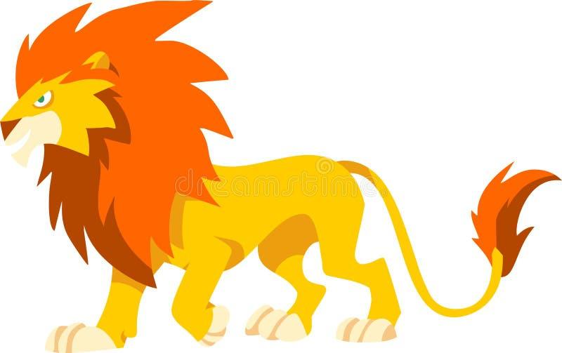 凉快的狮子 免版税库存图片