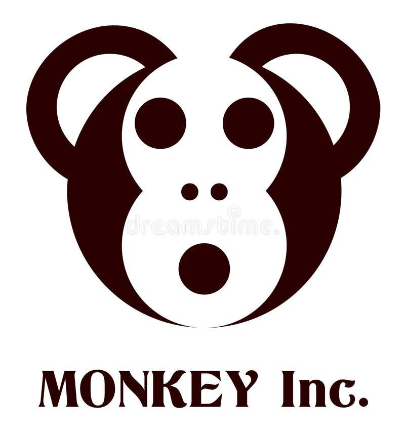 凉快的现代最小的猴子商标传染媒介例证 向量例证