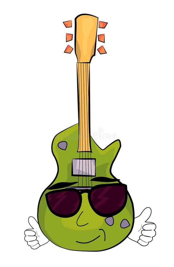凉快的电吉他动画片 皇族释放例证